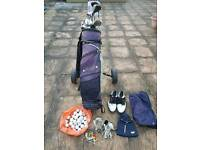 Golf bag - trolley with extras
