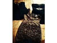 Must go 2 dresses and 1 jump suit bundle job lot river island jane norman size 16 on label (14-16)