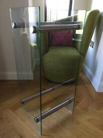 Modern Glass Log Holder