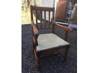 Large Solid oak arm chair Armchair ❤️