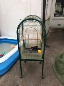 Two bird cages