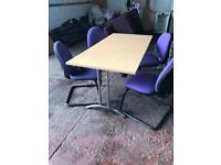 Straight Conference/ Meeting Table & 4 Chairs Package