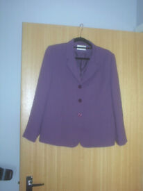 EASTEX Purple Trouser Suit Size 14