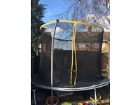 10FT Trampoline with safety net, good condition, collection only
