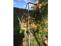 Garden children's swing frame