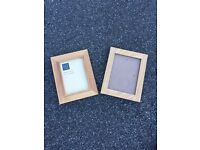 "2 X wooden picture frames 5"" X 7"""