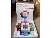 PT Photoframe clock - Family time (Colourful)