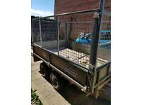 Ifor Williams dropside trailer. Will carry 2 ton.