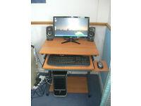 "Desktop PC - 20"" Monitor - Speakers - Printer - Win 10 MS - Office 2010"