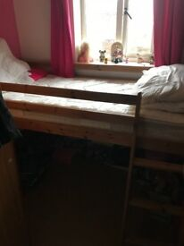 Pine single cabin bed , no mattress