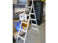 Abru Convertible Metal Ladder Step ladder