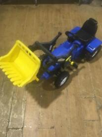 Child's Ride on Tractor with Scoop.