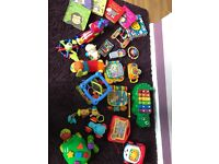 Large bundle of baby toys and books