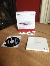 LG CD/DVD read/writer portable drive.