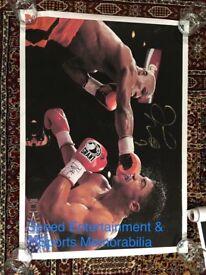 Floyd Mayweather Signed Canvas Boxing