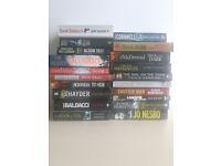 Range of paperback books