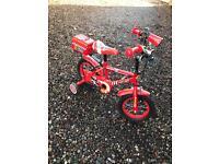 Fire engine bike with mega phone/sirens
