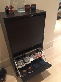 Shoe Rack Storage Cabinet 2 Drawers