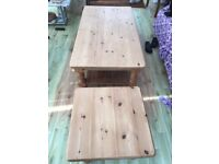 Two sturdy, quality made and solid pine tables