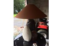 Brown Pebble French Table Lamp