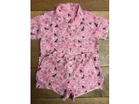 M&S pyjama set Age 9-10 Dog Print