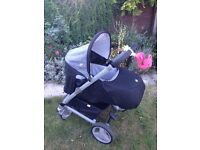 Joie kixx buggy+car seat+rain cover