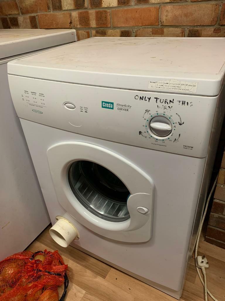 Creda Tumble Dryer Recall >> Creda Tumble Dryer In Caister On Sea Norfolk Gumtree