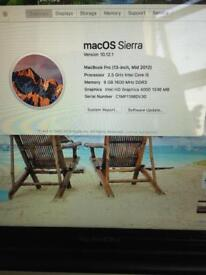 Macbook Pro 2012 2.5ghz 1TB hard drive