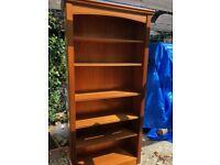 Great condition sturdy oak book shelf
