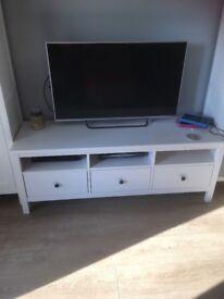 Wide white tv unit