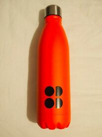 Sweaty Betty coral metal bottle