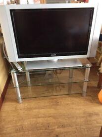 "Phillips 37"" Flatscreen TV and Stand"