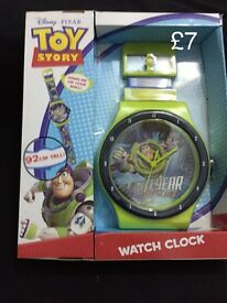 Disney characters wall clocks toy story, princes and cars
