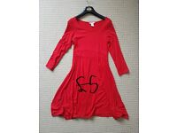 Size 10 red maternity dress, H&M, in great condition