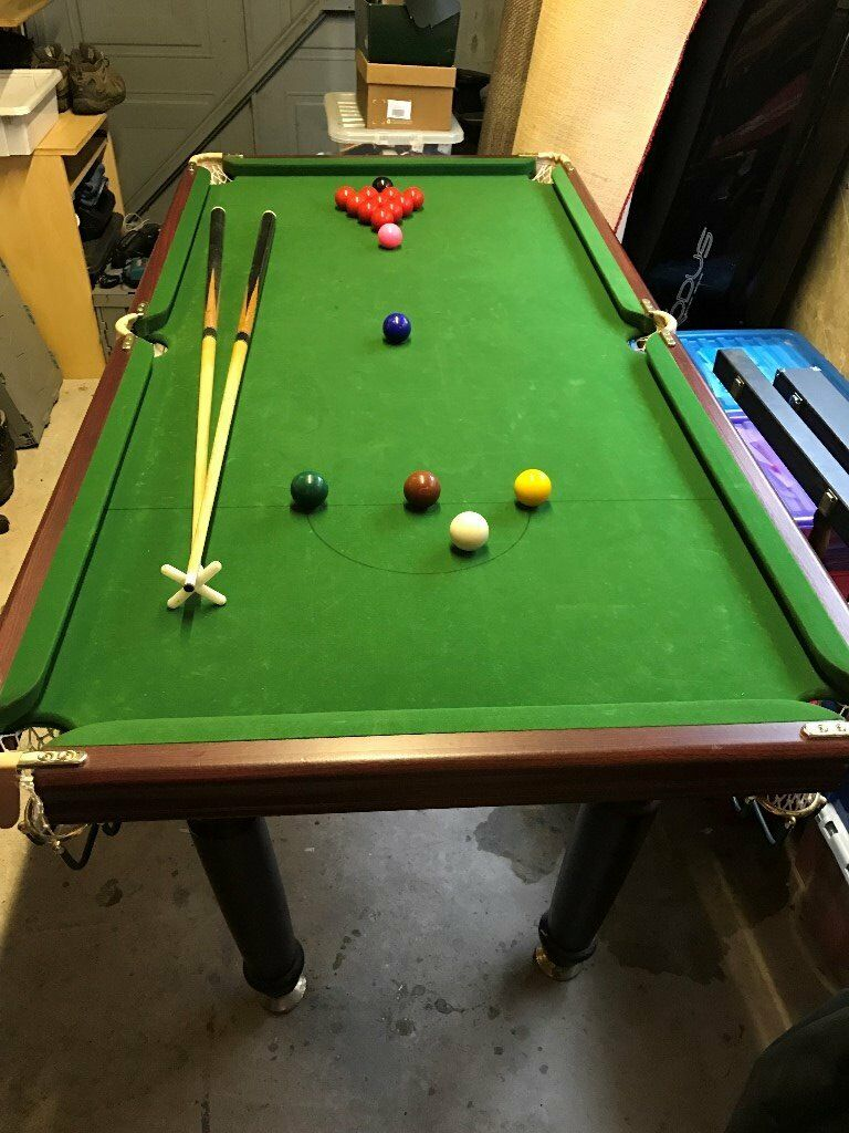 6ft X 3ft Bce Super Deluxe Snooker Pool Table In