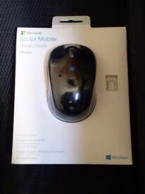 NEW Microsoft Sculpt Mobile Mouse - Black cordless wireless wifi bluetooth original packaging