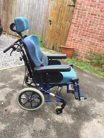 Rear assist wheel chair , immaculate condition, used twice, viewing advised. £500
