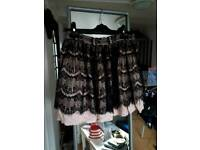 Lace skirt black and pink size 6