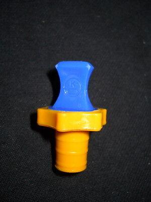Kimble Kimax 13 Polyethylene Pe Flask Length Laboratory Stopper Blueyellow
