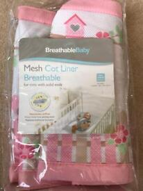 Breathable Baby Cot Mesh Wrap