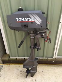 Tohatsu 3.5hp two stroke outboard, fuel and two stroke oil.