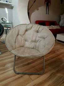 Suede Bucket Chair