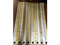 One pair Laura Ashley Eyelet curtains
