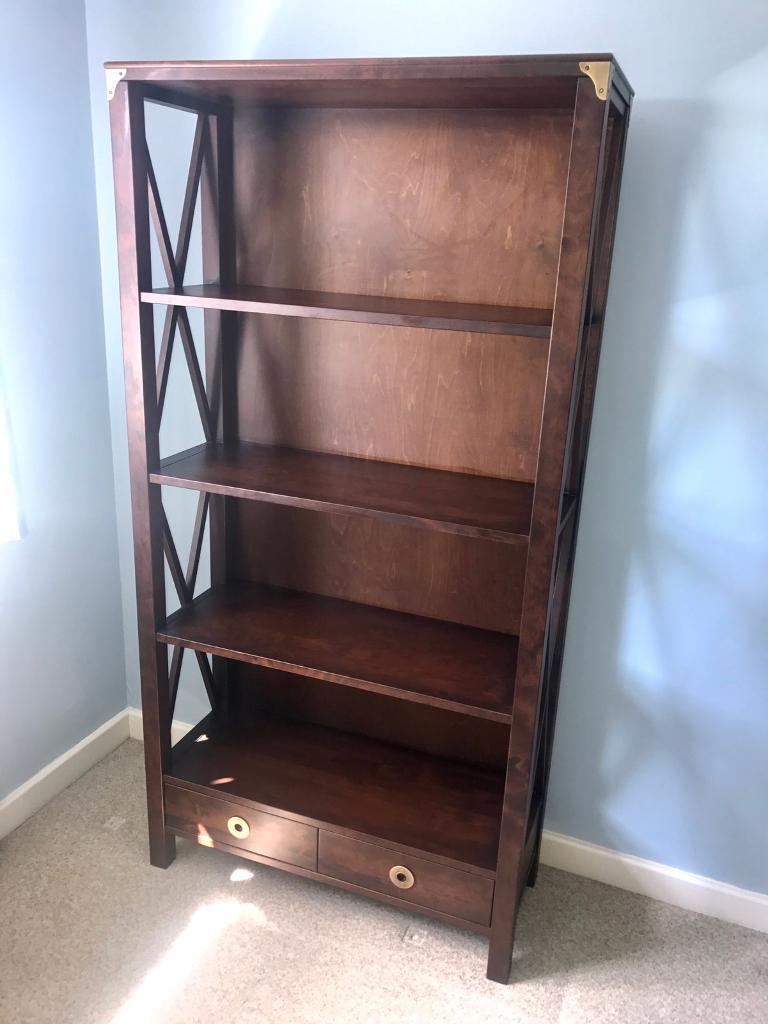 Laura Ashley Balmoral Chestnut 2 Drawer Bookcase