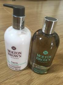Molton Brown of London new large 300ml ginger lily body wash & matching lotion .