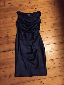 Stunning Coast Navy Blue Dress - size 14
