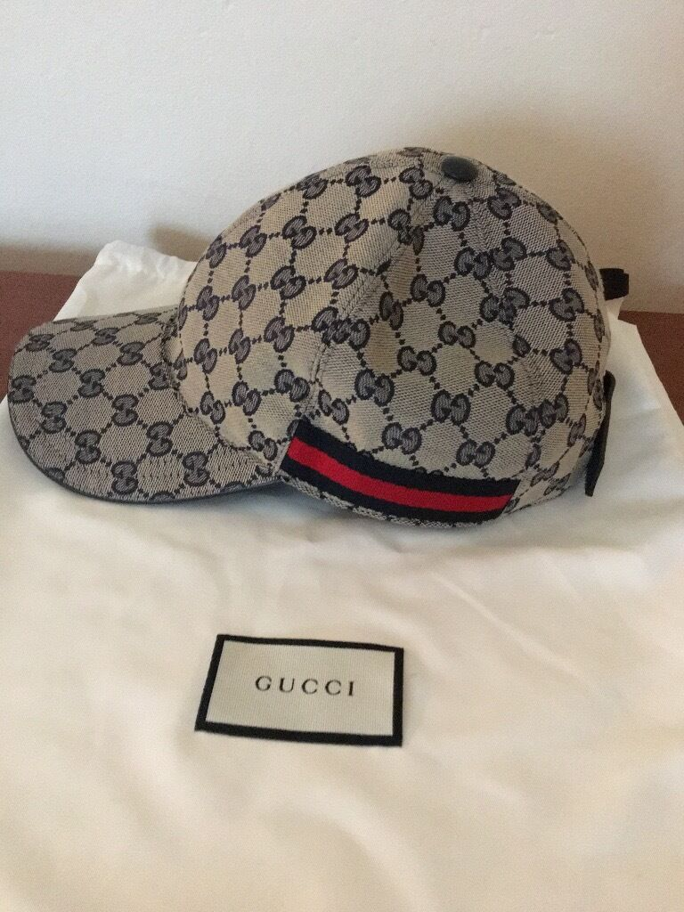 mens cap gucci cap original gg canvas baseball hat with. Black Bedroom Furniture Sets. Home Design Ideas