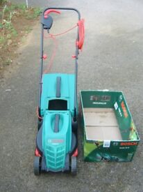 Bosch Rotak 32R electric mower & electric strimmer. Nearly new, full working order.