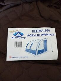 sunncamp ultima 260 acrylic porch awning only used twice