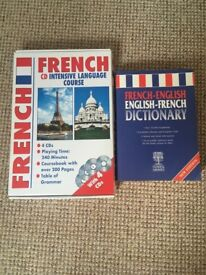 French Intensive Language CD Course and French Dictionary